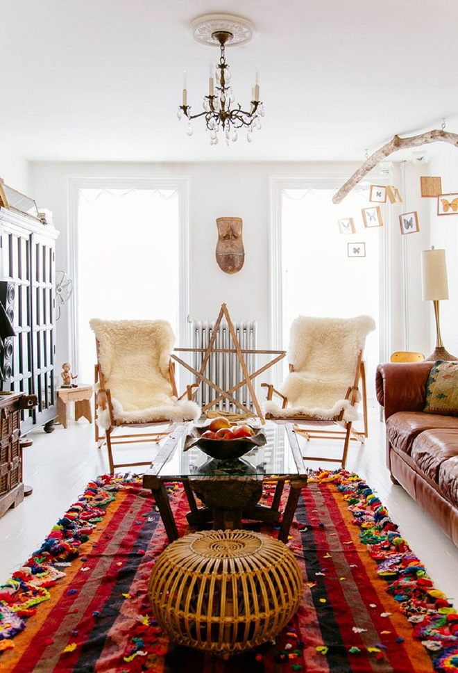 Những mẫu phòng khách mang phong cách Bohemian đẹp mê mẩn - Nhà Đẹp Số (7)