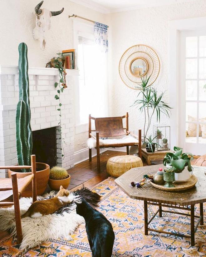 Những mẫu phòng khách mang phong cách Bohemian đẹp mê mẩn - Nhà Đẹp Số (8)