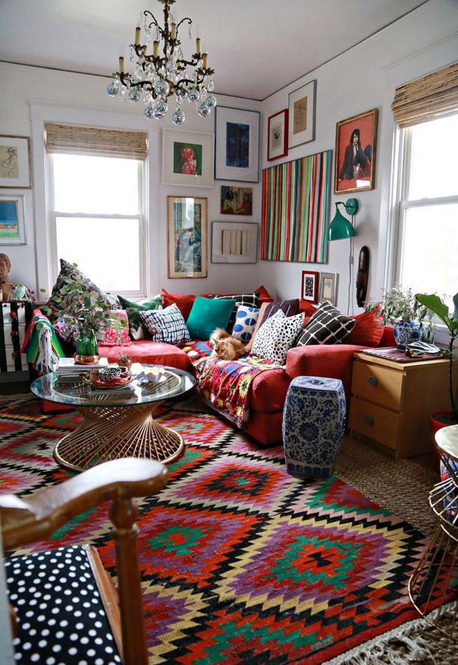 Những mẫu phòng khách mang phong cách Bohemian đẹp mê mẩn - Nhà Đẹp Số (9)