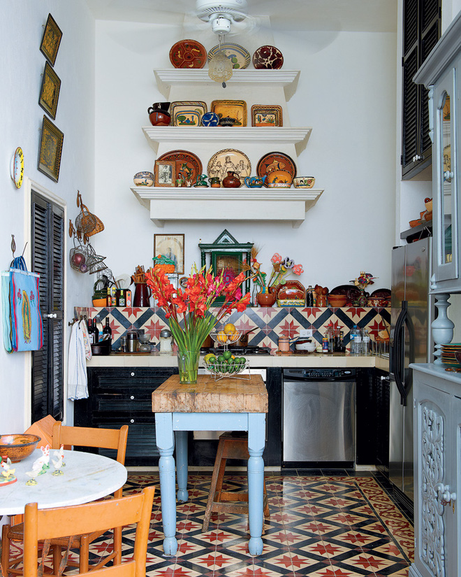 Sức hút mãnh liệt từ những không gian phòng bếp phong cách Bohemian - Nhà Đẹp Số (3)