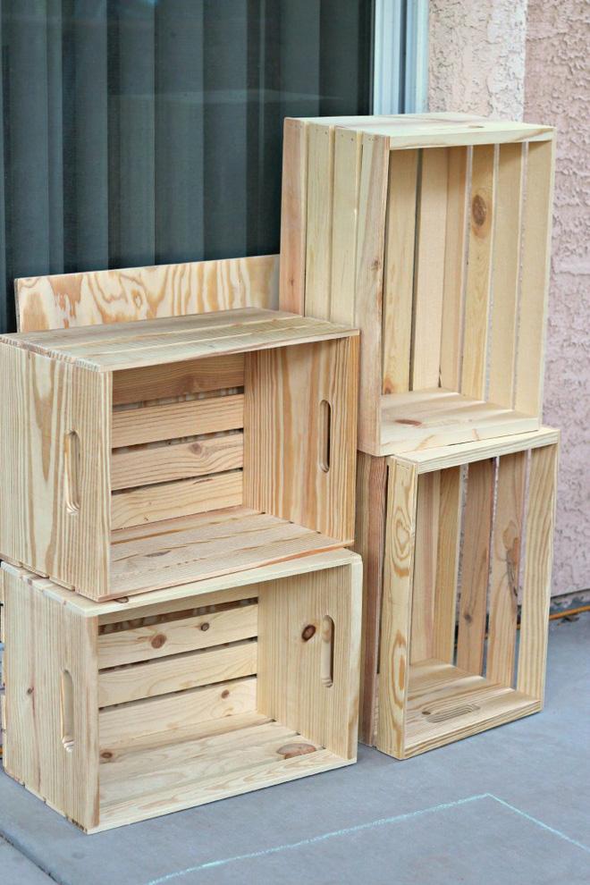 Tiết kiệm tiền trang trí nhà bằng đồ nội thất tái chế từ thùng cũ - Nhà Đẹp Số (1)