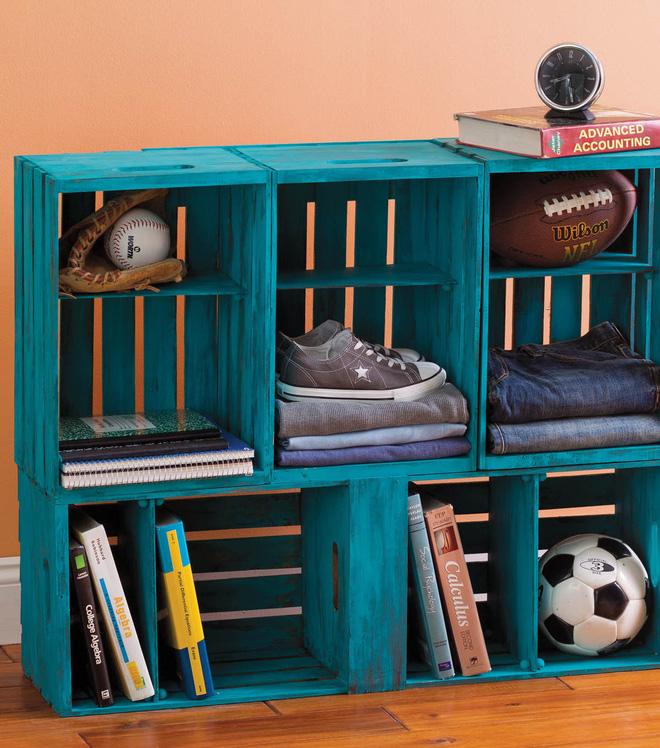Tiết kiệm tiền trang trí nhà bằng đồ nội thất tái chế từ thùng cũ - Nhà Đẹp Số (13)