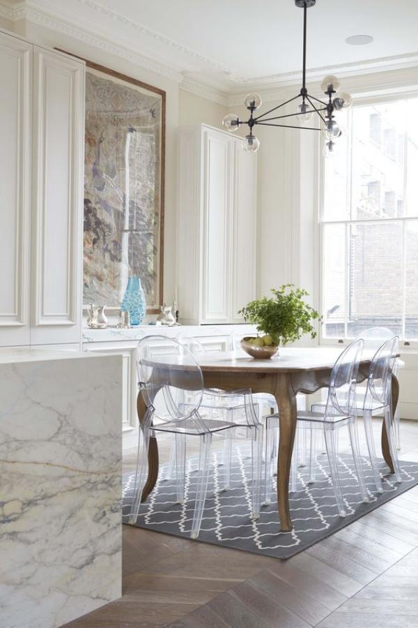 Xu hướng thiết kế phòng ăn mới toanh kết hợp bàn kiểu cũ với ghế hiện đại - Nhà Đẹp Số (1)