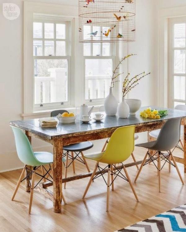 Xu hướng thiết kế phòng ăn mới toanh kết hợp bàn kiểu cũ với ghế hiện đại - Nhà Đẹp Số (6)