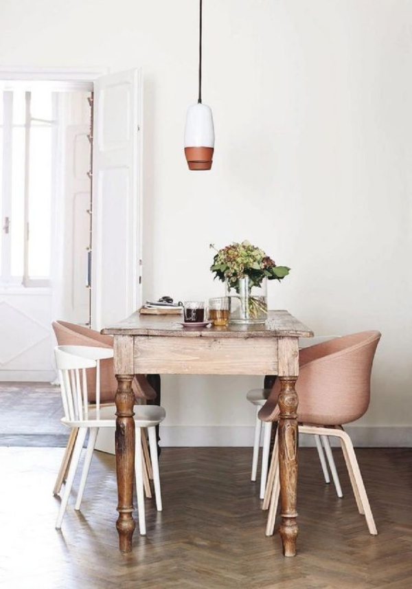 Xu hướng thiết kế phòng ăn mới toanh kết hợp bàn kiểu cũ với ghế hiện đại - Nhà Đẹp Số (8)