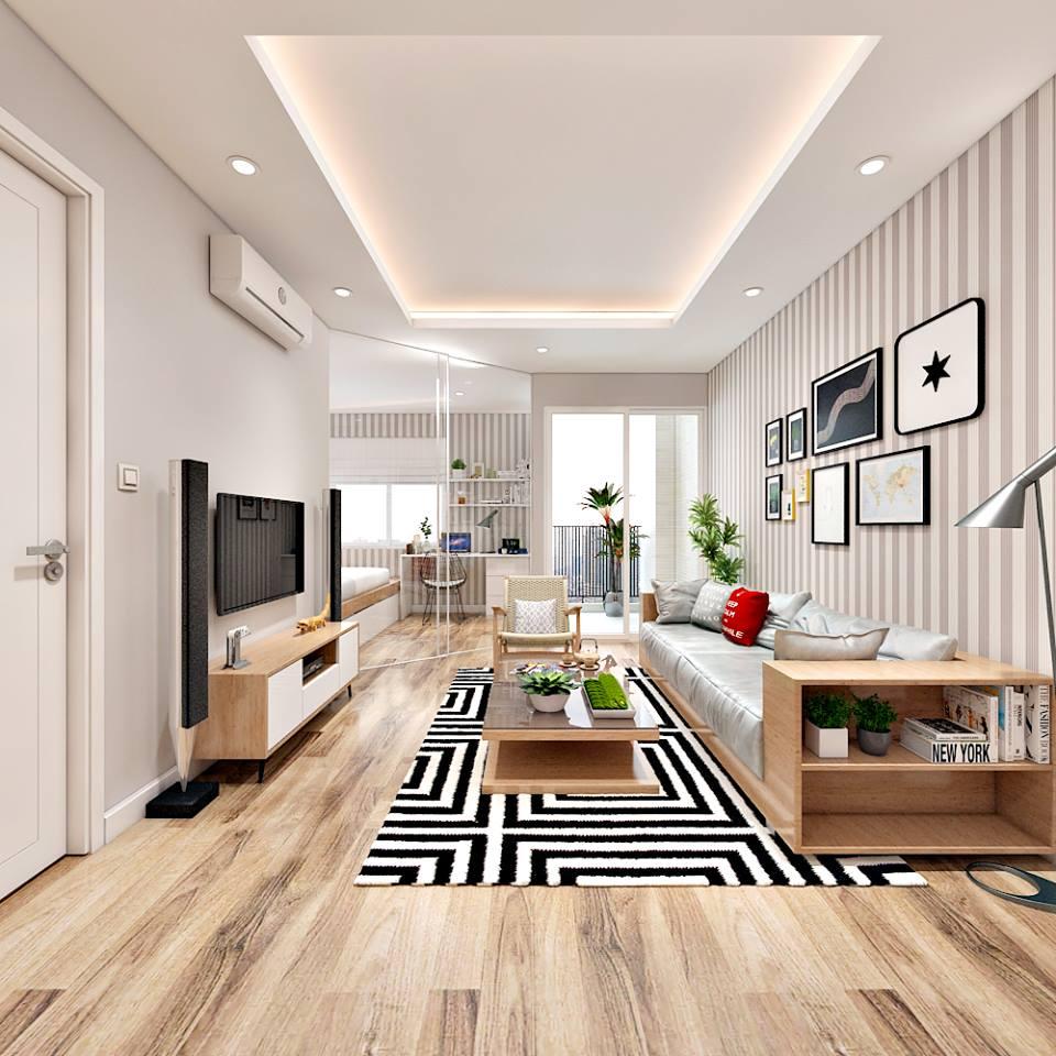 Căn hộ hiện đại 65 m2 với tông trắng chủ đạo - Nhà Đẹp Số (1)