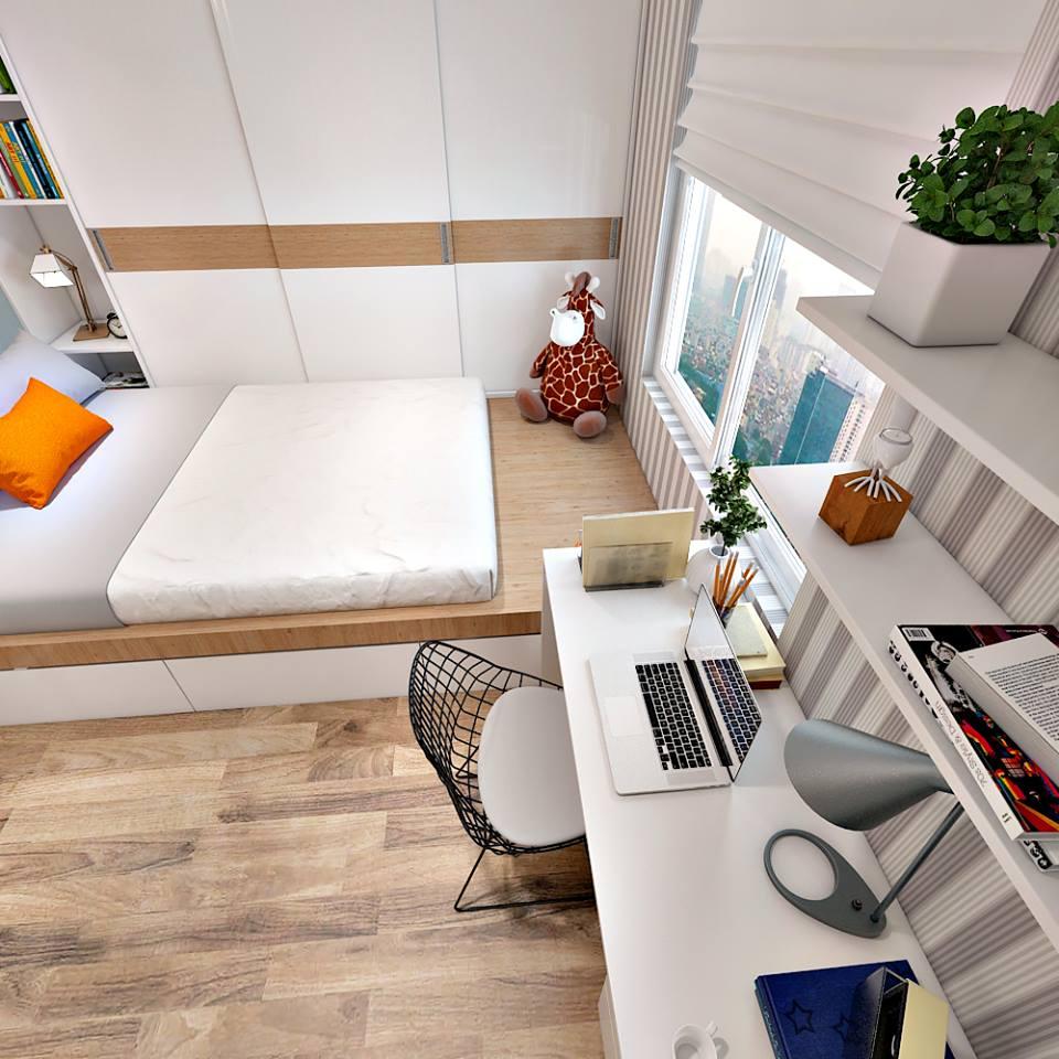 Căn hộ hiện đại 65 m2 với tông trắng chủ đạo - Nhà Đẹp Số (4)