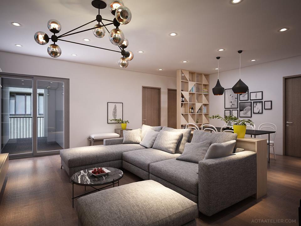 Không gian mở linh hoạt bên trong căn hộ chung cư Capital Garden - Nhà Đẹp Số (1)