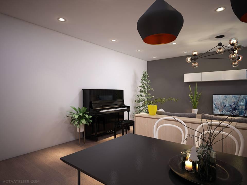 Không gian mở linh hoạt bên trong căn hộ chung cư Capital Garden - Nhà Đẹp Số (6)