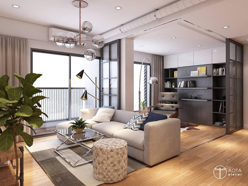 Nội thất căn hộ 90m2 đậm hơi thở vintage - Nhà Đẹp Số (1)