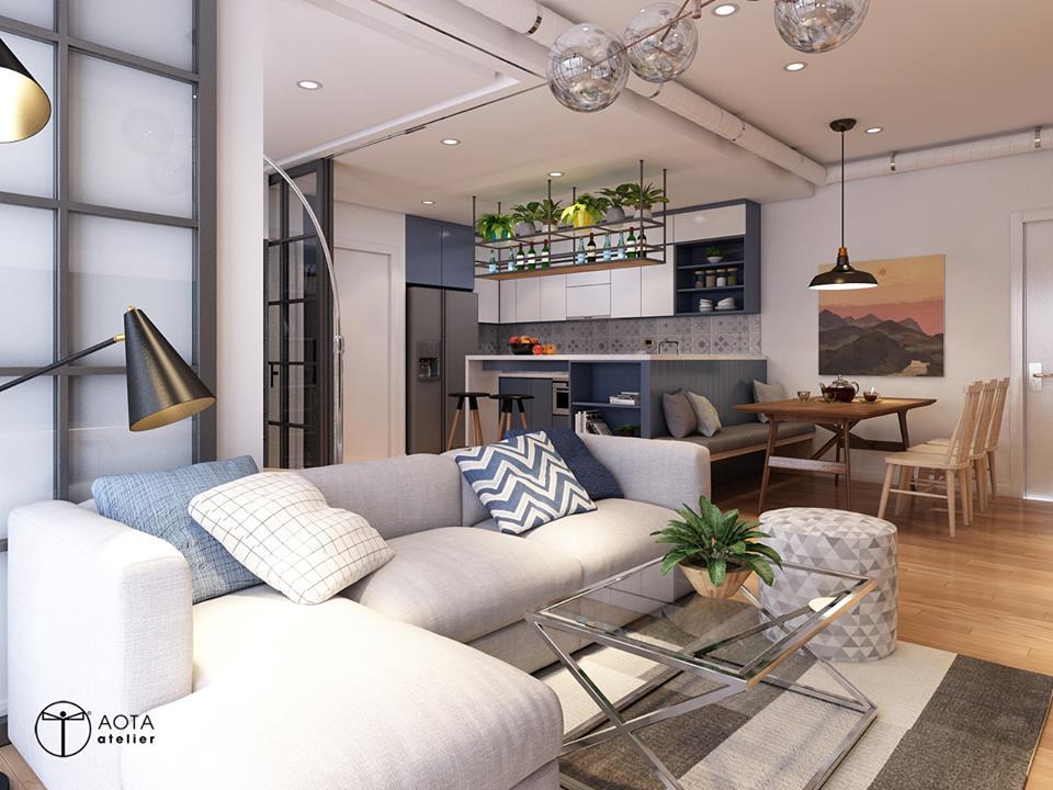 Nội thất căn hộ 90m2 đậm hơi thở vintage - Nhà Đẹp Số (2)