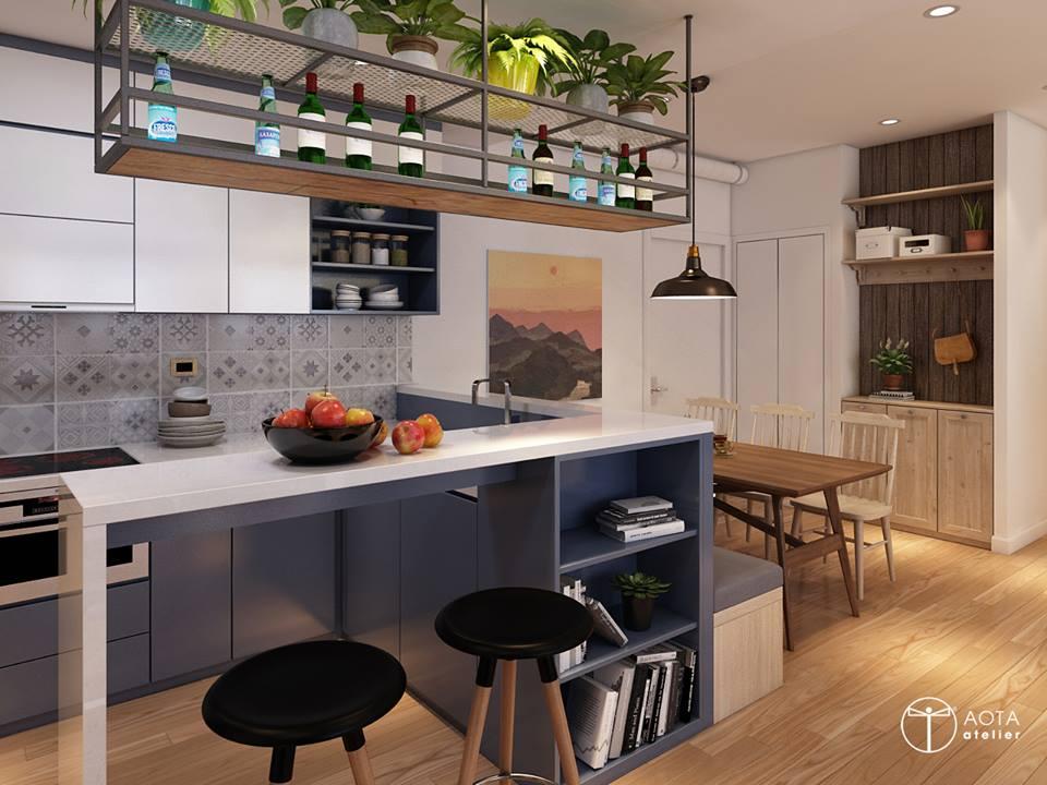 Nội thất căn hộ 90m2 đậm hơi thở vintage - Nhà Đẹp Số (3)