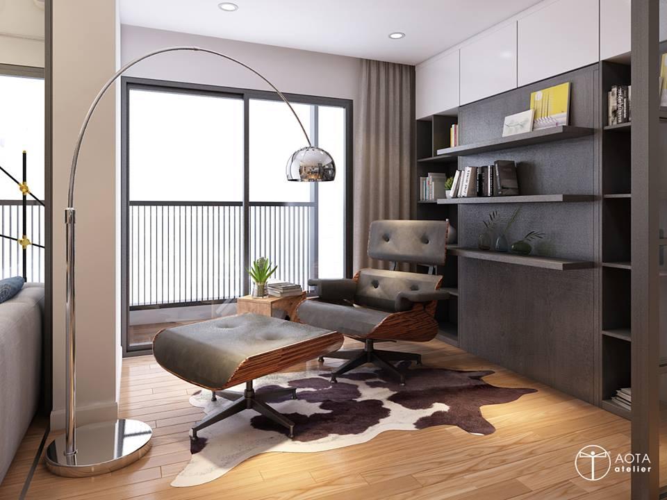 Nội thất căn hộ 90m2 đậm hơi thở vintage - Nhà Đẹp Số (4)