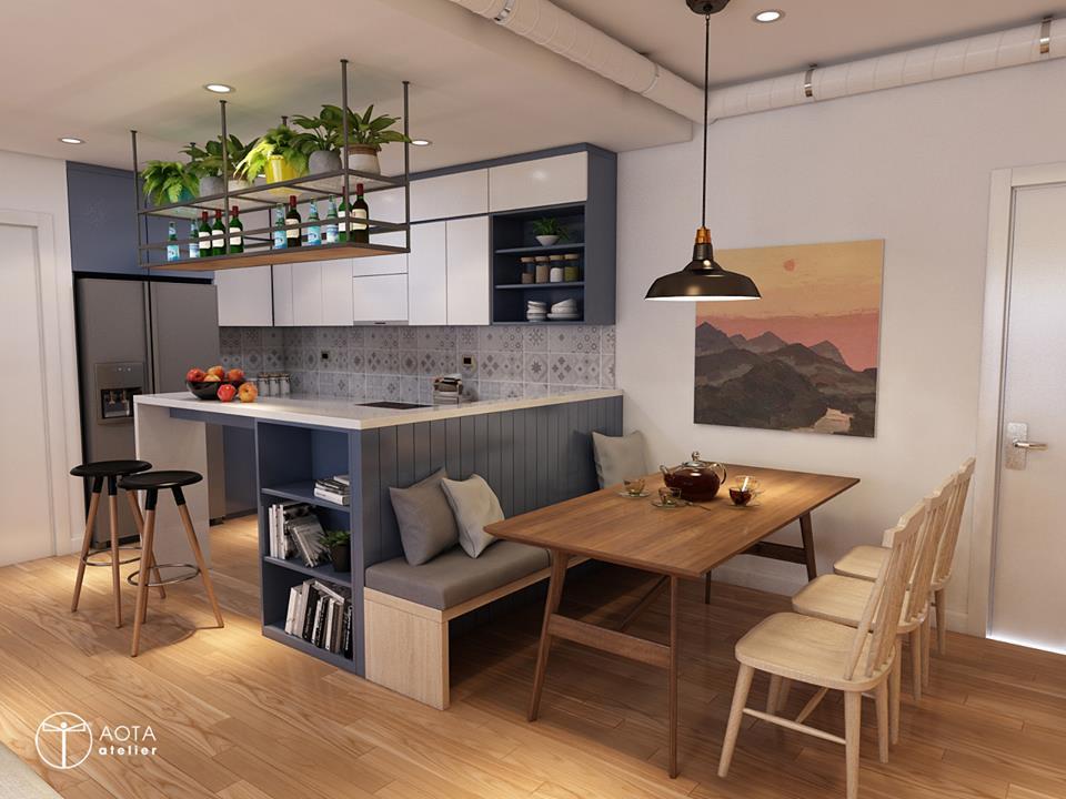 Nội thất căn hộ 90m2 đậm hơi thở vintage - Nhà Đẹp Số (6)
