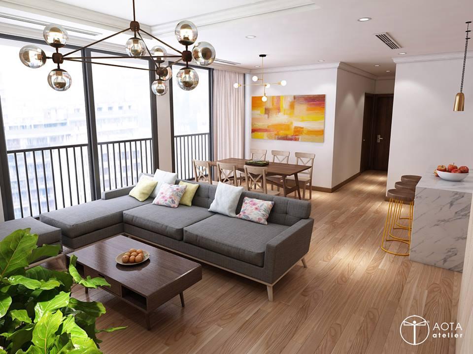 Phong cách nội thất hiện đại trong căn hộ 4 phòng ngủ chung cư Park Hill Premium - Nhà Đẹp Số (2)