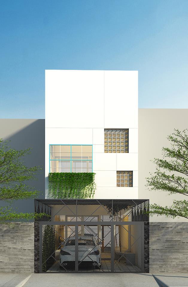 Thiết kế nhà phố 3 tầng gia đình anh Hậu ở Đồng Tháp - Nhà Đẹp Số (1)