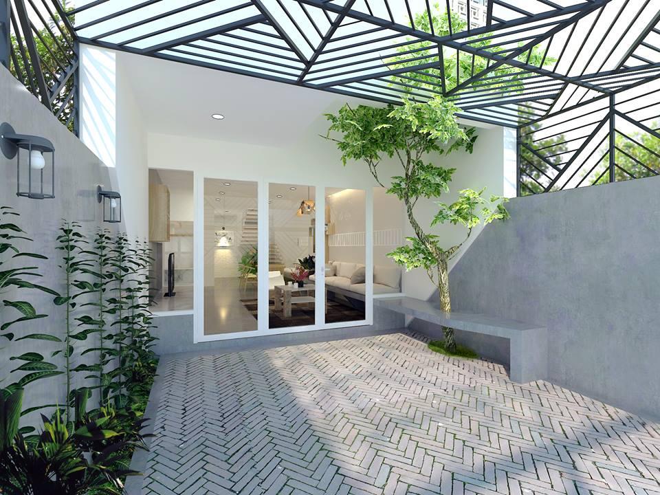Thiết kế nhà phố 3 tầng gia đình anh Hậu ở Đồng Tháp - Nhà Đẹp Số (2)