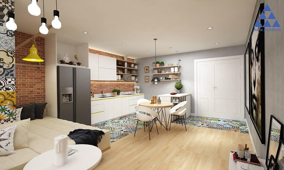Thiết kế nội thất căn hộ chung cư Ellipse Tower – Anh Dũng - Nhà Đẹp Số (2)