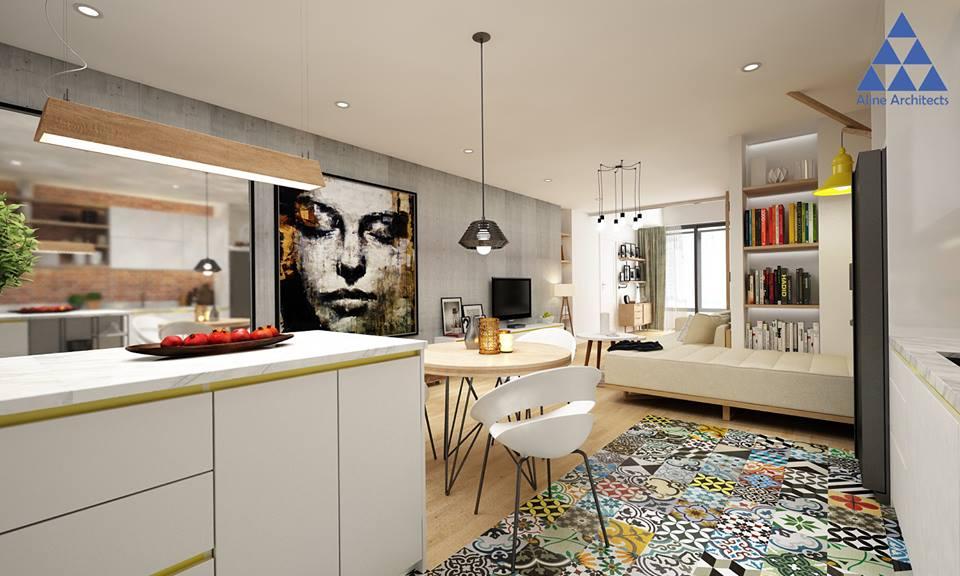 Thiết kế nội thất căn hộ chung cư Ellipse Tower – Anh Dũng - Nhà Đẹp Số (3)