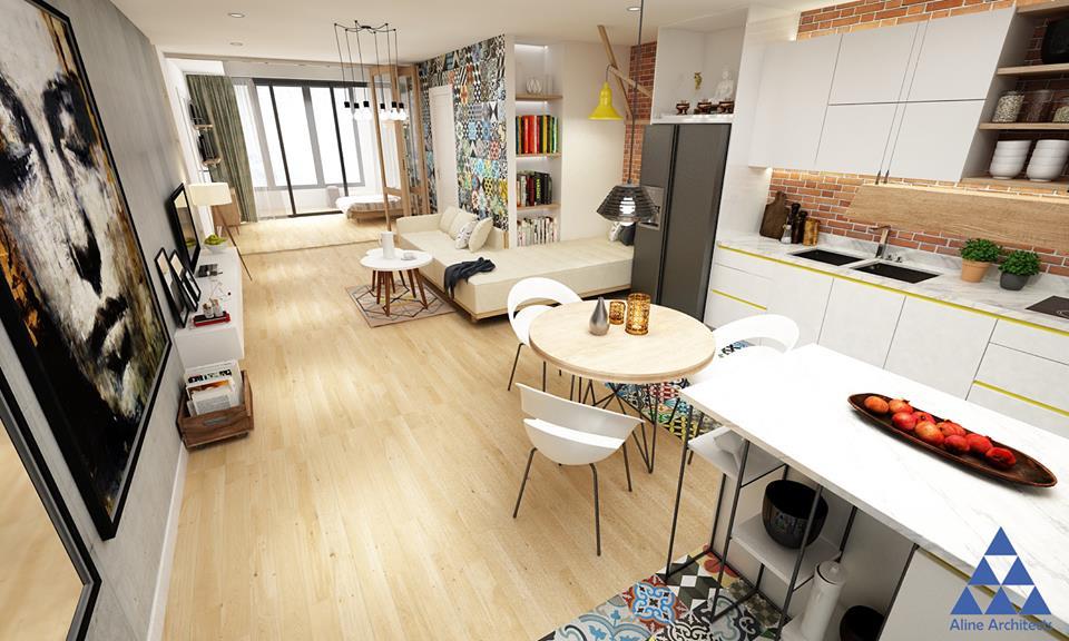 Thiết kế nội thất căn hộ chung cư Ellipse Tower – Anh Dũng - Nhà Đẹp Số (6)