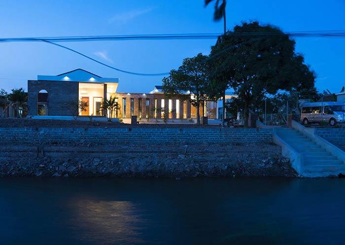 Công trình nhà cấp 4 đẹp đầy đủ tiện nghi như resort ẩn mình trong ốc đảo ở Thái Bình - Nhà Đẹp Số (1)