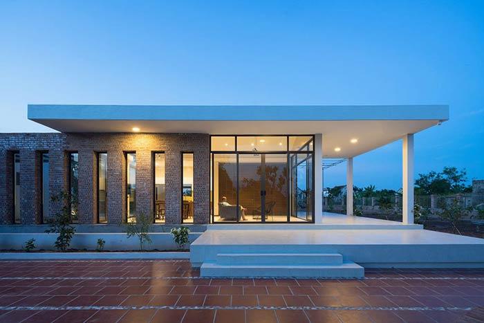 Công trình nhà cấp 4 đẹp đầy đủ tiện nghi như resort ẩn mình trong ốc đảo ở Thái Bình - Nhà Đẹp Số (4)