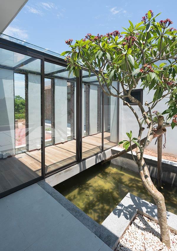 Công trình nhà cấp 4 đẹp đầy đủ tiện nghi như resort ẩn mình trong ốc đảo ở Thái Bình - Nhà Đẹp Số (8)