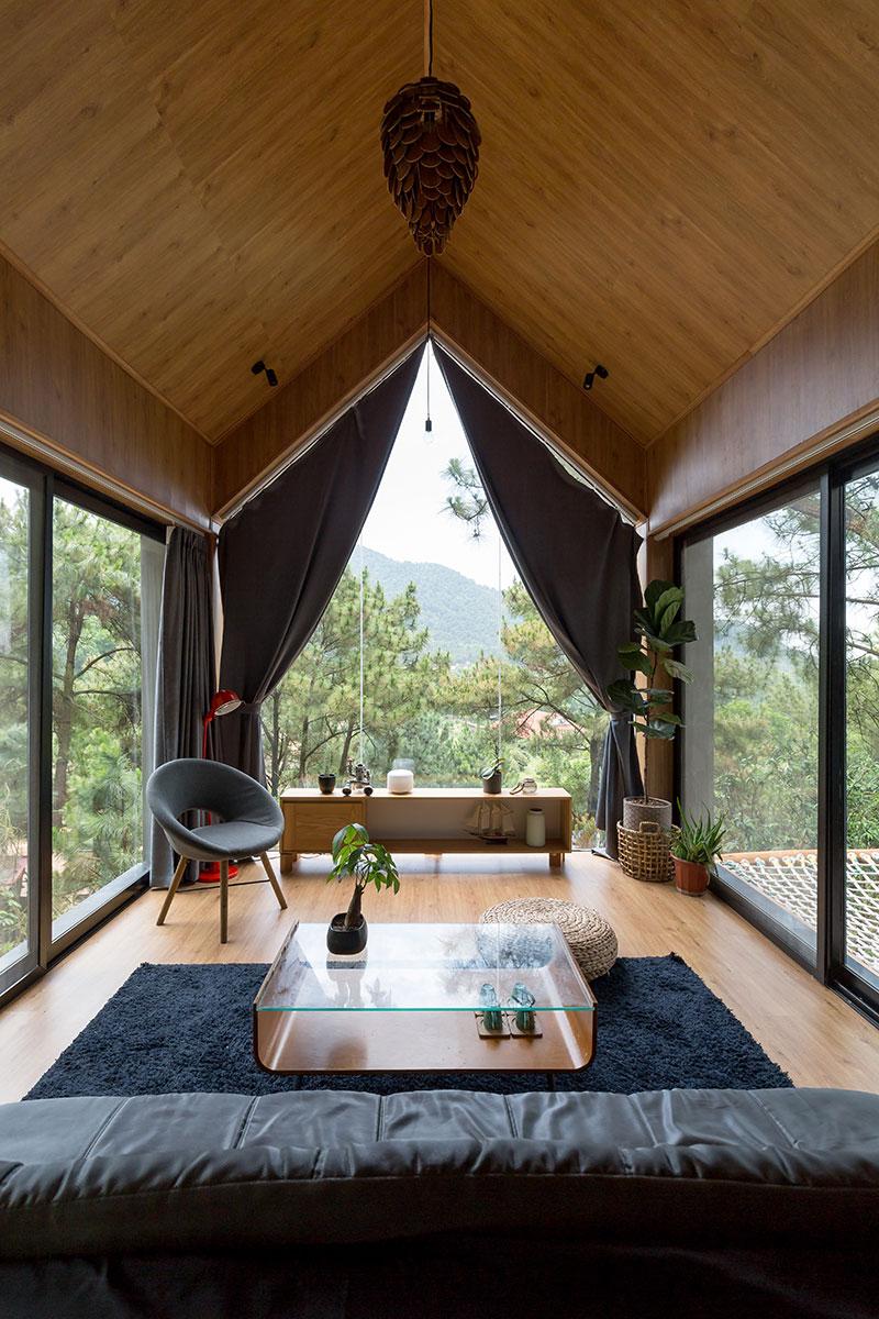 Đẹp ngỡ ngàng ngôi nhà đẹp 1 tầng nằm trên vách đồi thông ở S9óc Sơn - handyman decor - nhà đẹp số