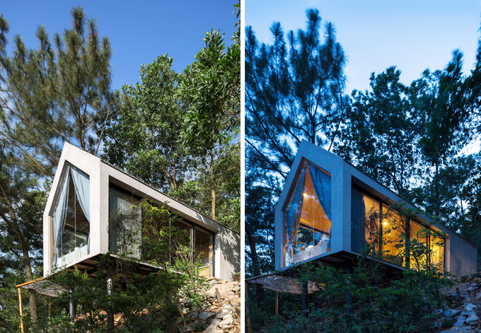 Đẹp ngỡ ngàng ngôi nhà đẹp 1 tầng nằm trên vách đồi thông ở Sóc Sơn - Nhà Đẹp Số (1)