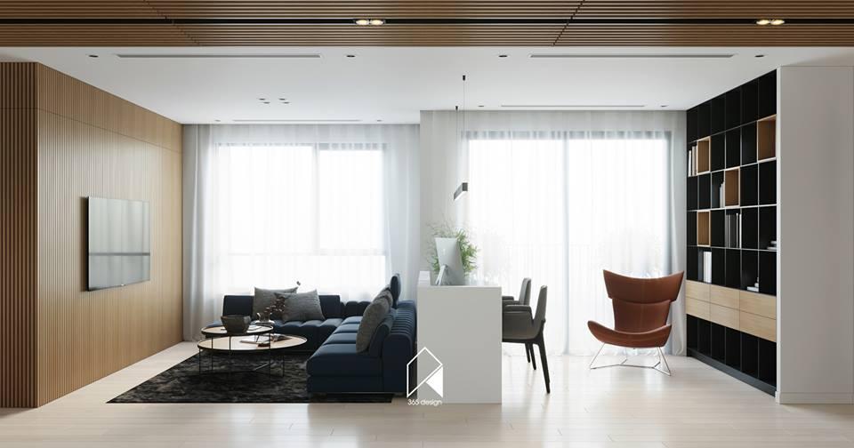 Nội thất căn hộ 150 m2 theo phong cách hiện đại tối giản ở Mễ Trì, Hà Nội - Nhà Đẹp Số (1)