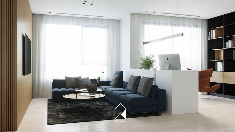 Nội thất căn hộ 150 m2 theo phong cách hiện đại tối giản ở Mễ Trì, Hà Nội - Nhà Đẹp Số (2)