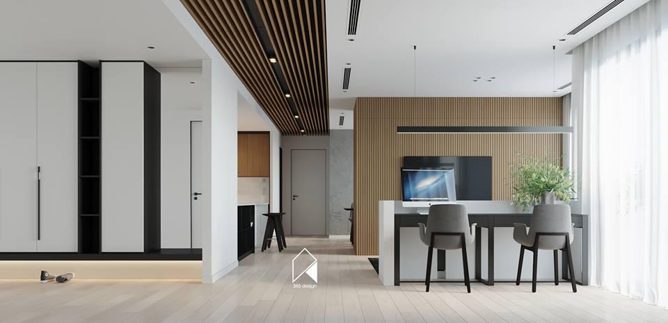 Nội thất căn hộ 150 m2 theo phong cách hiện đại tối giản ở Mễ Trì, Hà Nội - Nhà Đẹp Số (3)