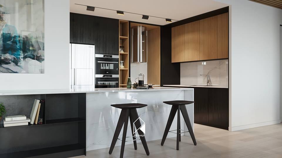 Nội thất căn hộ 150 m2 theo phong cách hiện đại tối giản ở Mễ Trì, Hà Nội - Nhà Đẹp Số (4)