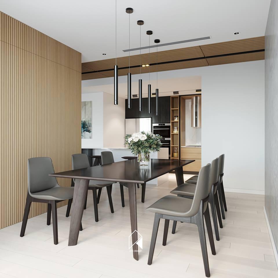 Nội thất căn hộ 150 m2 theo phong cách hiện đại tối giản ở Mễ Trì, Hà Nội - Nhà Đẹp Số (5)