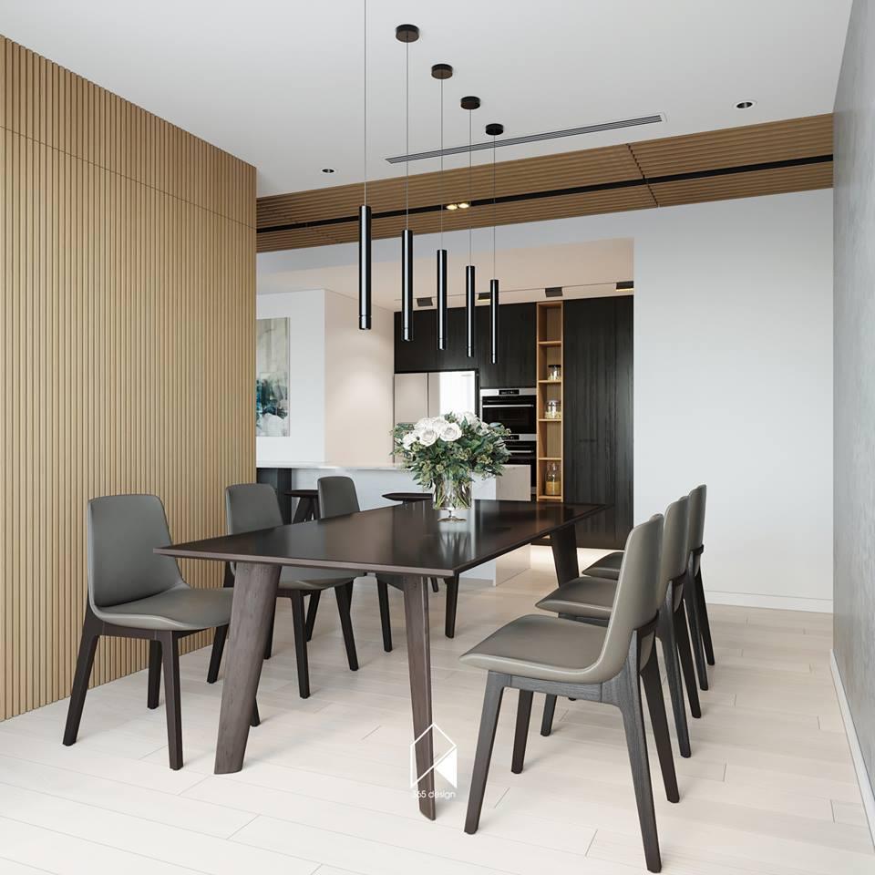 Nội thất căn hộ 150 m2 theo phong cách hiện đại tối giản ở Mễ Trì, Hà Nội - Nhà Đẹp Số (6)