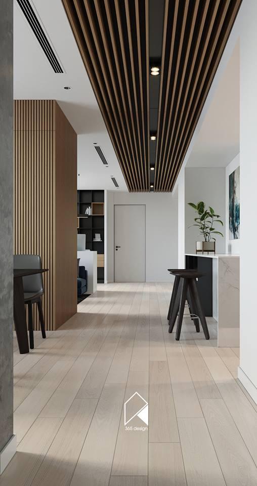 Nội thất căn hộ 150 m2 theo phong cách hiện đại tối giản ở Mễ Trì, Hà Nội - Nhà Đẹp Số (7)
