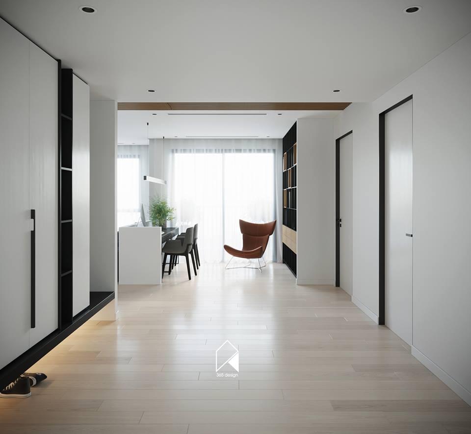 Nội thất căn hộ 150 m2 theo phong cách hiện đại tối giản ở Mễ Trì, Hà Nội - Nhà Đẹp Số (8)