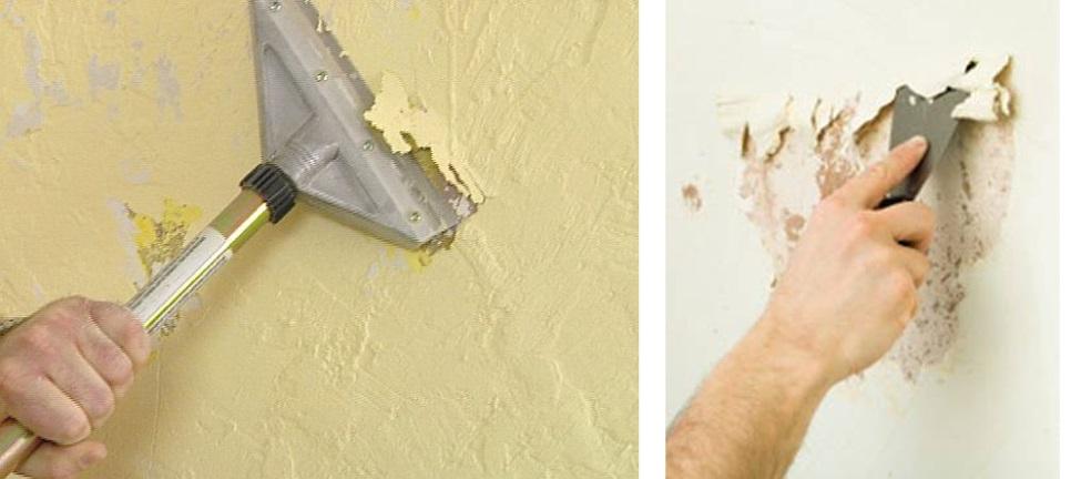 Xử lý bề mặt tường đã sơn trước khi thi công bột trét tường