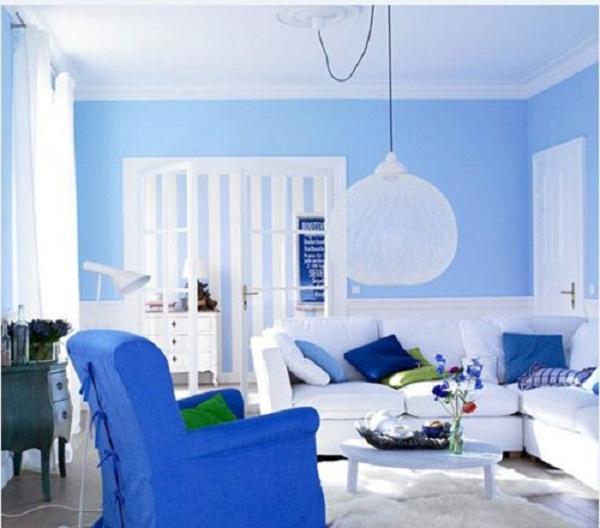 Màu xanh nước biển là lựa chọn phù hợp cho gia chủ mệnh Thủy