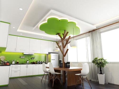 chọn mẫu trần thạch cao cho phòng bếp