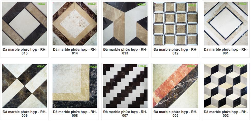 Các mẫu Đá Marble phức hợp