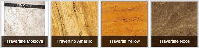 Các mẫu đá Travertine