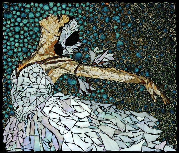 Gạch mosaic ghép tranh