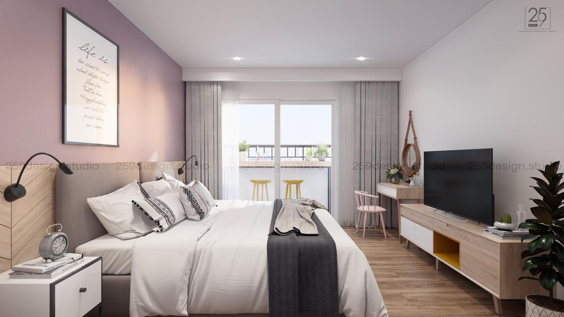 Mẫu thiết kế nội thất căn hộ đẹp với điểm nhấn màu pastel - Nhà Đẹp Số (10)