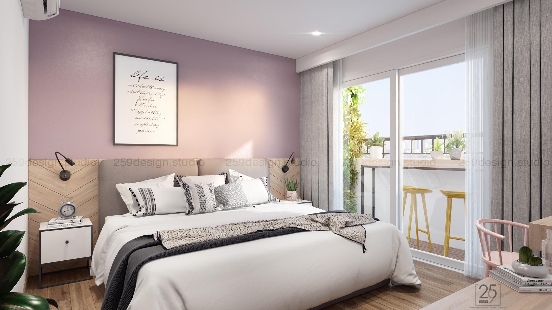 Mẫu thiết kế nội thất căn hộ đẹp với điểm nhấn màu pastel - Nhà Đẹp Số (9)