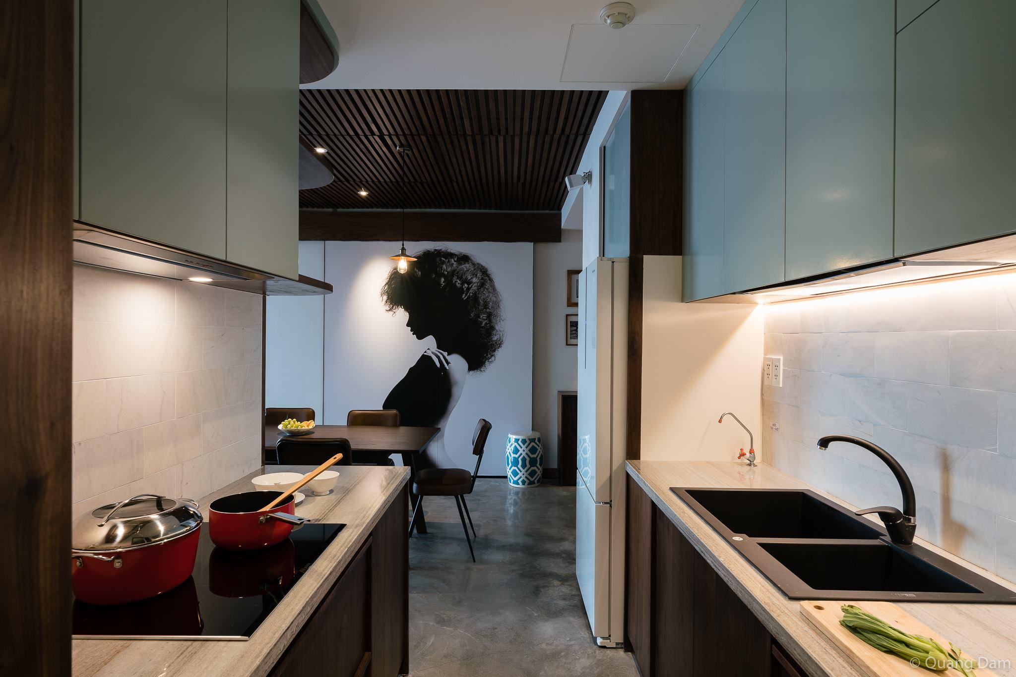 Nội thất căn hộ 1 phòng ngủ với điểm nhấn gỗ và cây xanh - Nhà Đẹp Số (10)