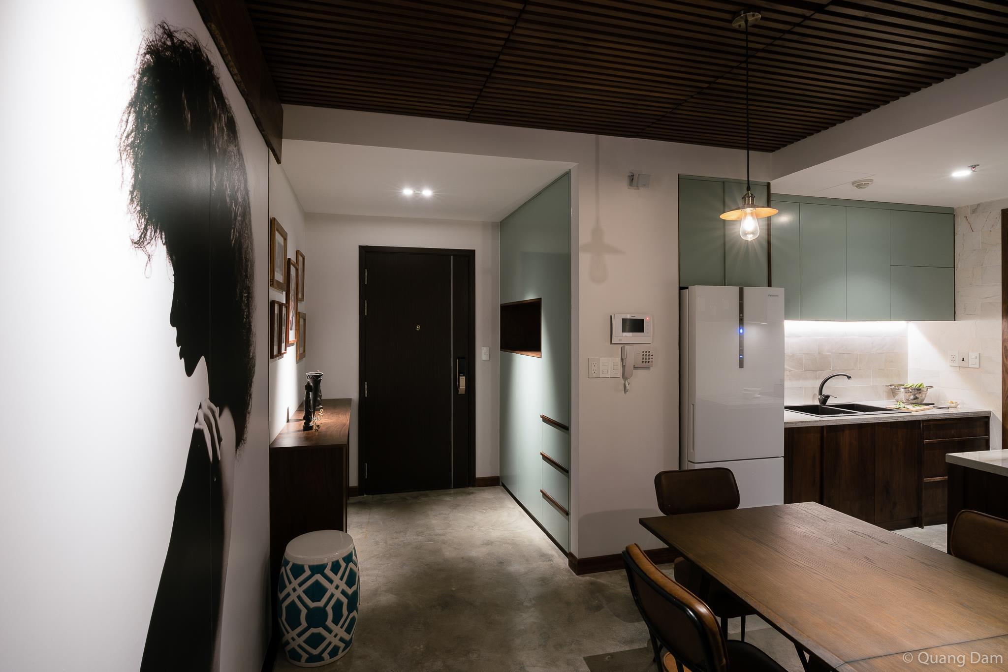 Nội thất căn hộ 1 phòng ngủ với điểm nhấn gỗ và cây xanh - Nhà Đẹp Số (11)