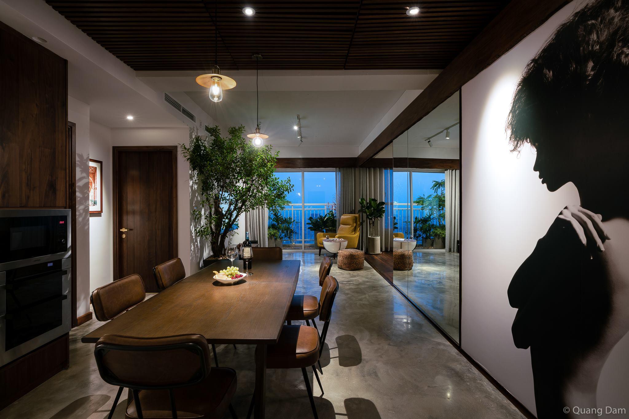 Nội thất căn hộ 1 phòng ngủ với điểm nhấn gỗ và cây xanh - Nhà Đẹp Số (13)