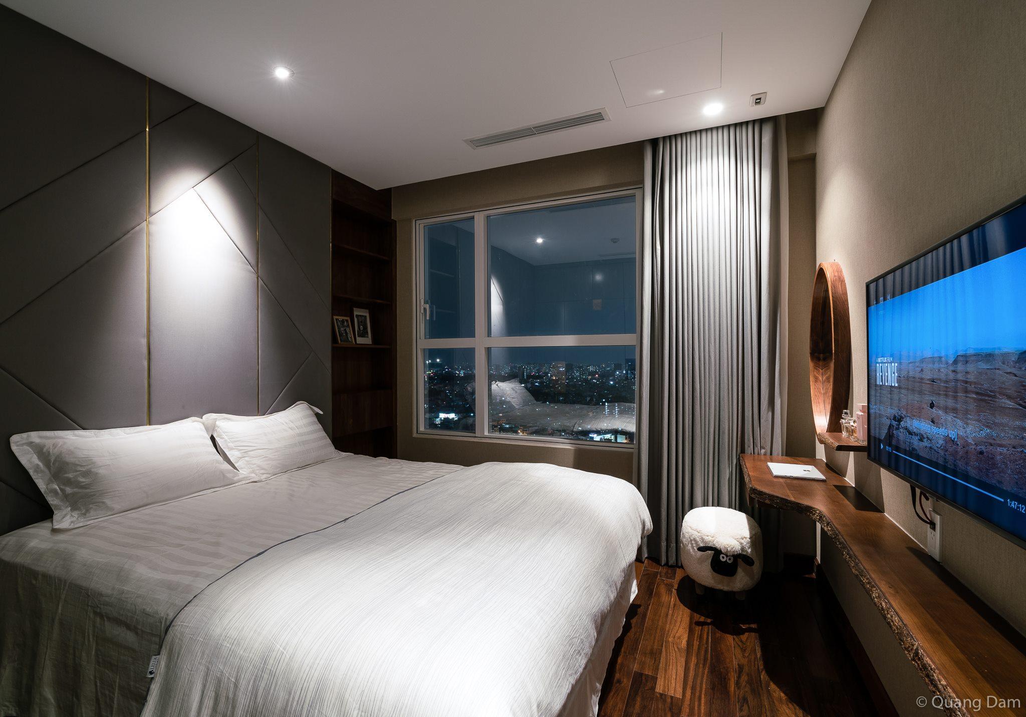 Nội thất căn hộ 1 phòng ngủ với điểm nhấn gỗ và cây xanh - Nhà Đẹp Số (17)