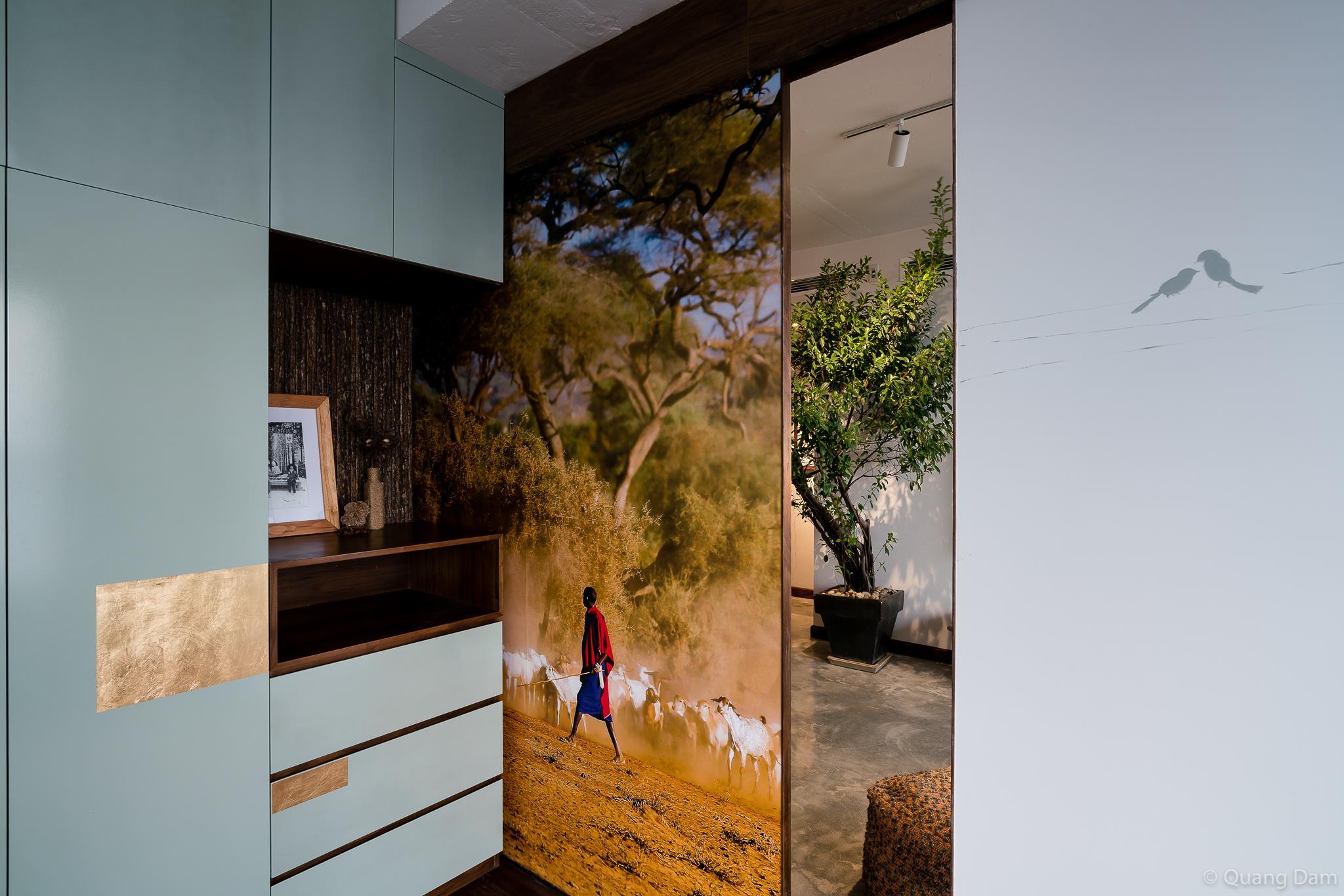 Nội thất căn hộ 1 phòng ngủ với điểm nhấn gỗ và cây xanh - Nhà Đẹp Số (2)